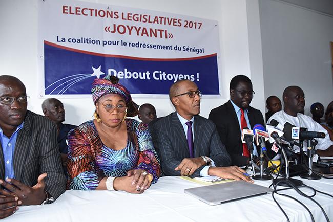 LEGISLATIVES : La coalition Joyyanti remercie ses militants et charge le ministère de l'Intérieur, organisateur des élections