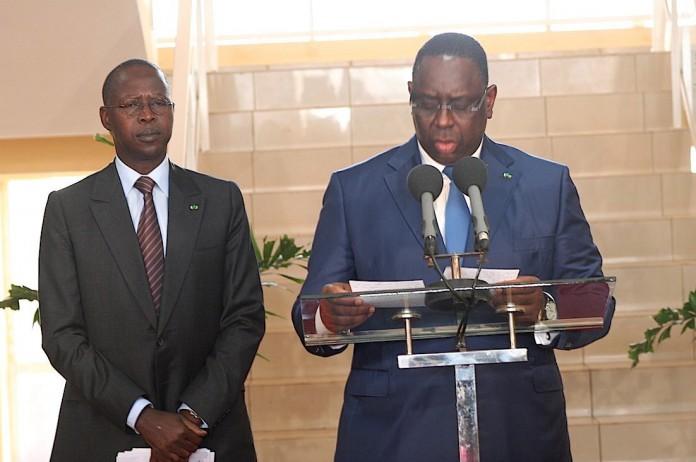 """Macky Sall : """" Le Premier ministre sortant s'est acquitté de sa charge avec dévouement, sans faille aucune..."""""""
