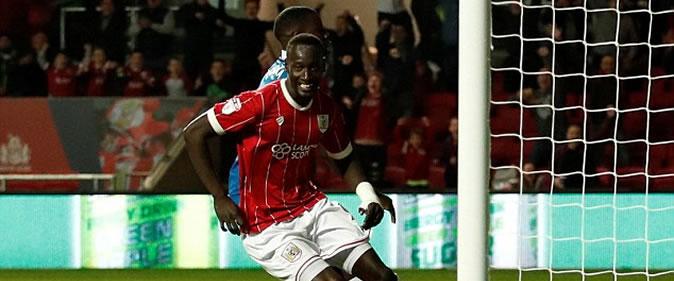 But de Famara Diedhiou : Bristol 2-0 Stoke (League Cup)