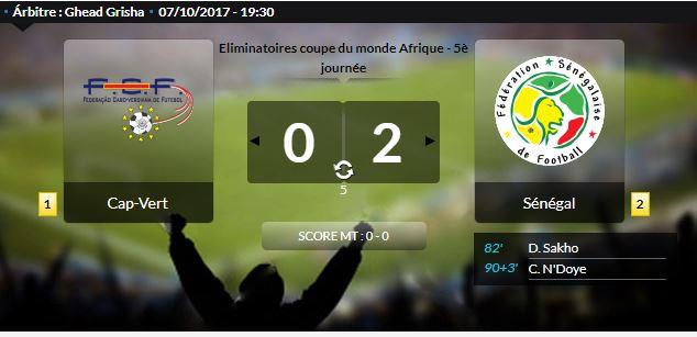 Eliminatoires Coupe du Monde : Le Sénégal gagne contre le Cap Vert et fait un pas vers la qualification