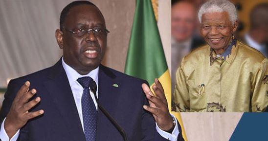 """Macky Sall : """"La capacité de pardon de Nelson Mandela est une leçon de vie"""""""