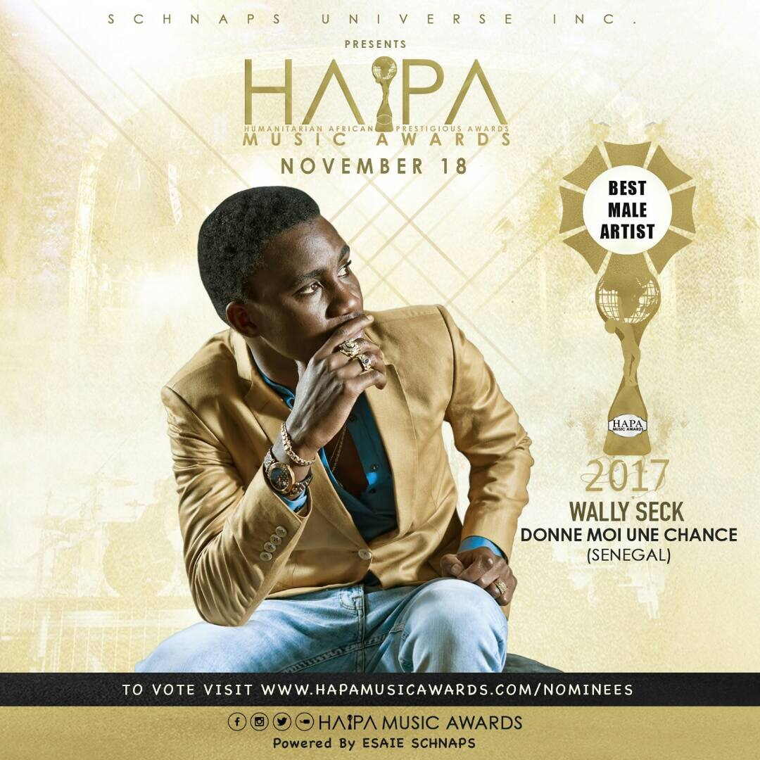 Wally Ballago Seck nominés aux HAPA Music Awards 2017