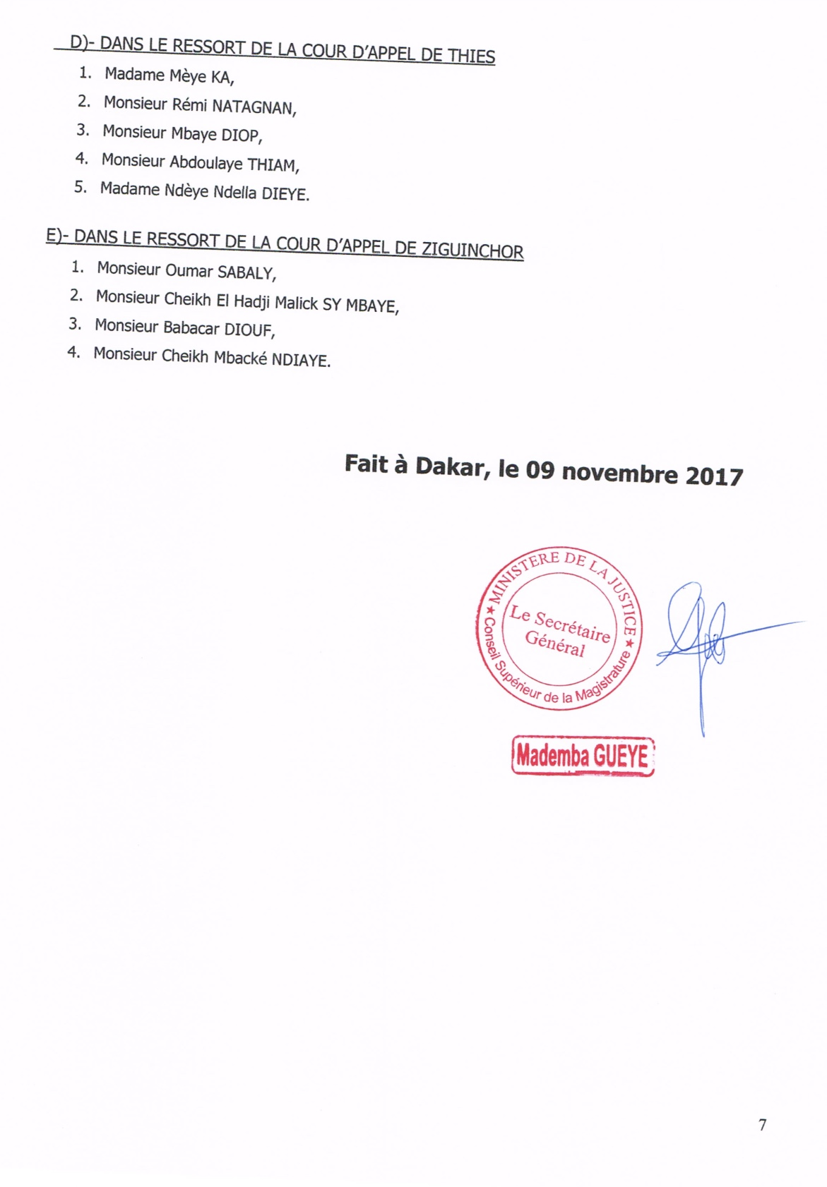 Les mesures prises lors de la réunion du Conseil Supérieur de la Magistrature sous la présidence du Président Macky Sall (DOCUMENTS)