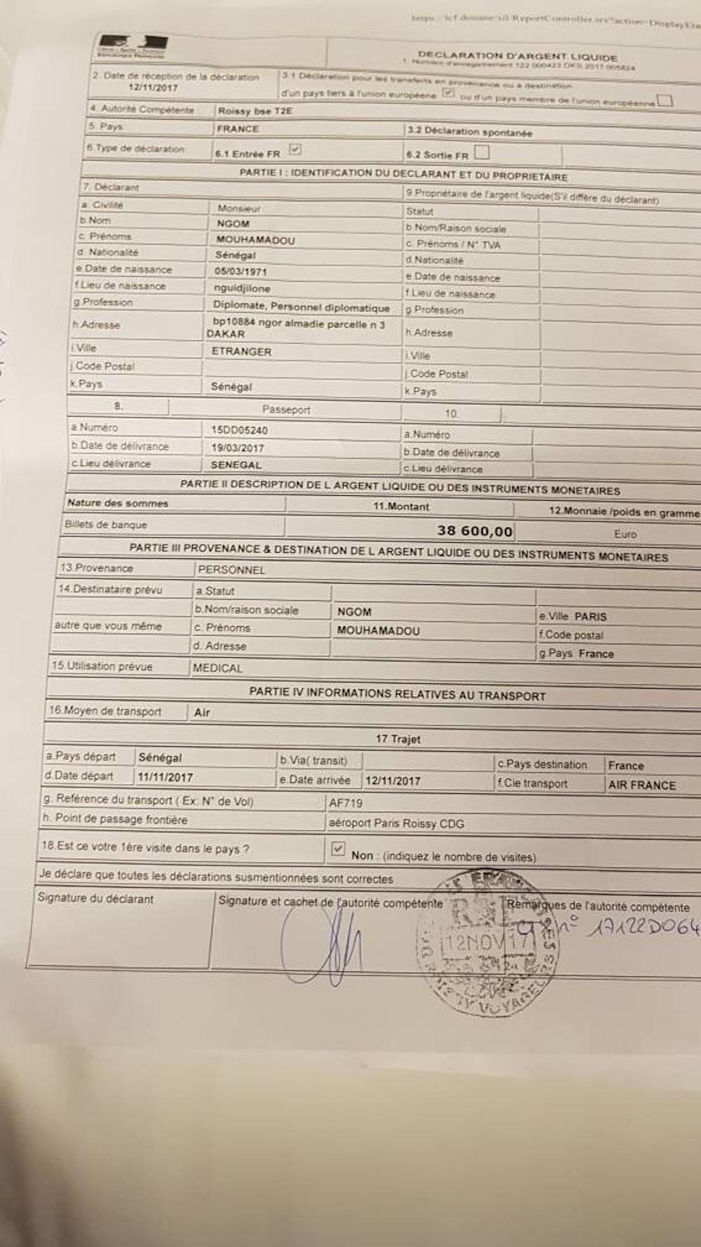 La maladie de sa mère, les 38 600 euros et le rôle de Mamadou Lamine Massaly / Farba Ngom dément la rumeur de son arrestation et exhibe les preuves du complot (DOCUMENT)