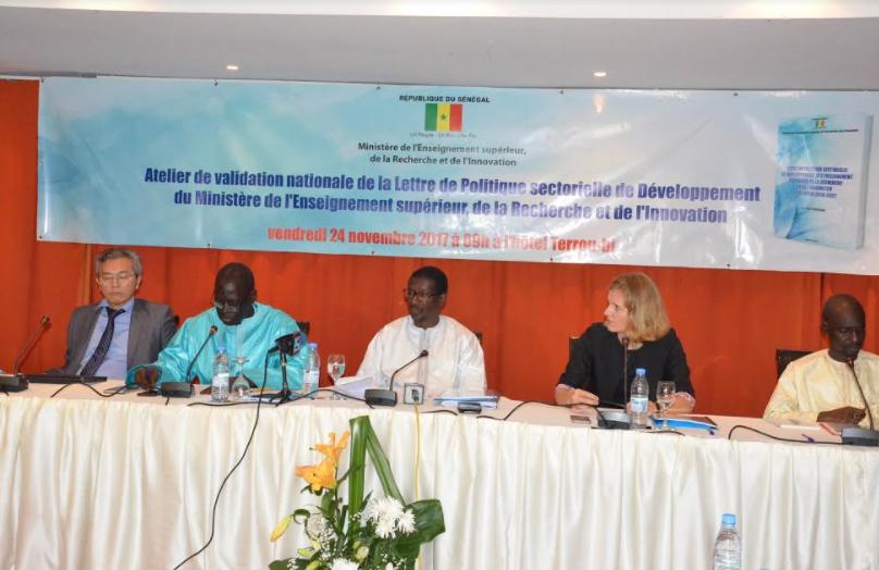 Lettre de politique sectorielle de développement de l'enseignement supérieur, de la recherche et de l'innovation (2018-2022) : La science et la technologie pour faire émerger le Sénégal.