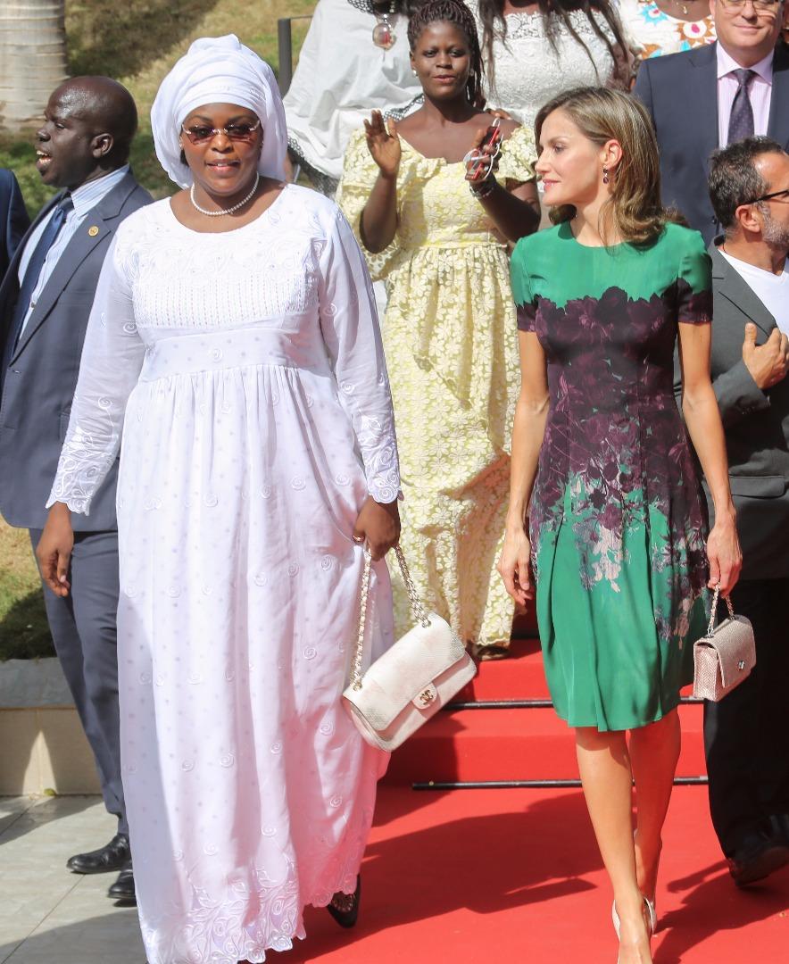 La Première Dame Marième Faye Sall en compagnie de la reine d'Espagne Letizia Ortiz