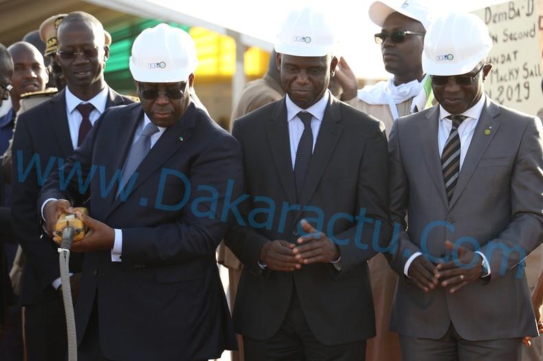 Images de la Cérémonie du démarrage de la construction de la nouvelle usine d'eau potable de Keur Momar Sarr