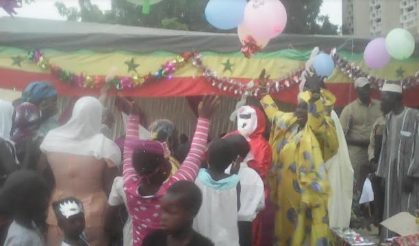 Noël à Kaolack : Mariama Sarr invite les enfants à aimer davantage leur pays