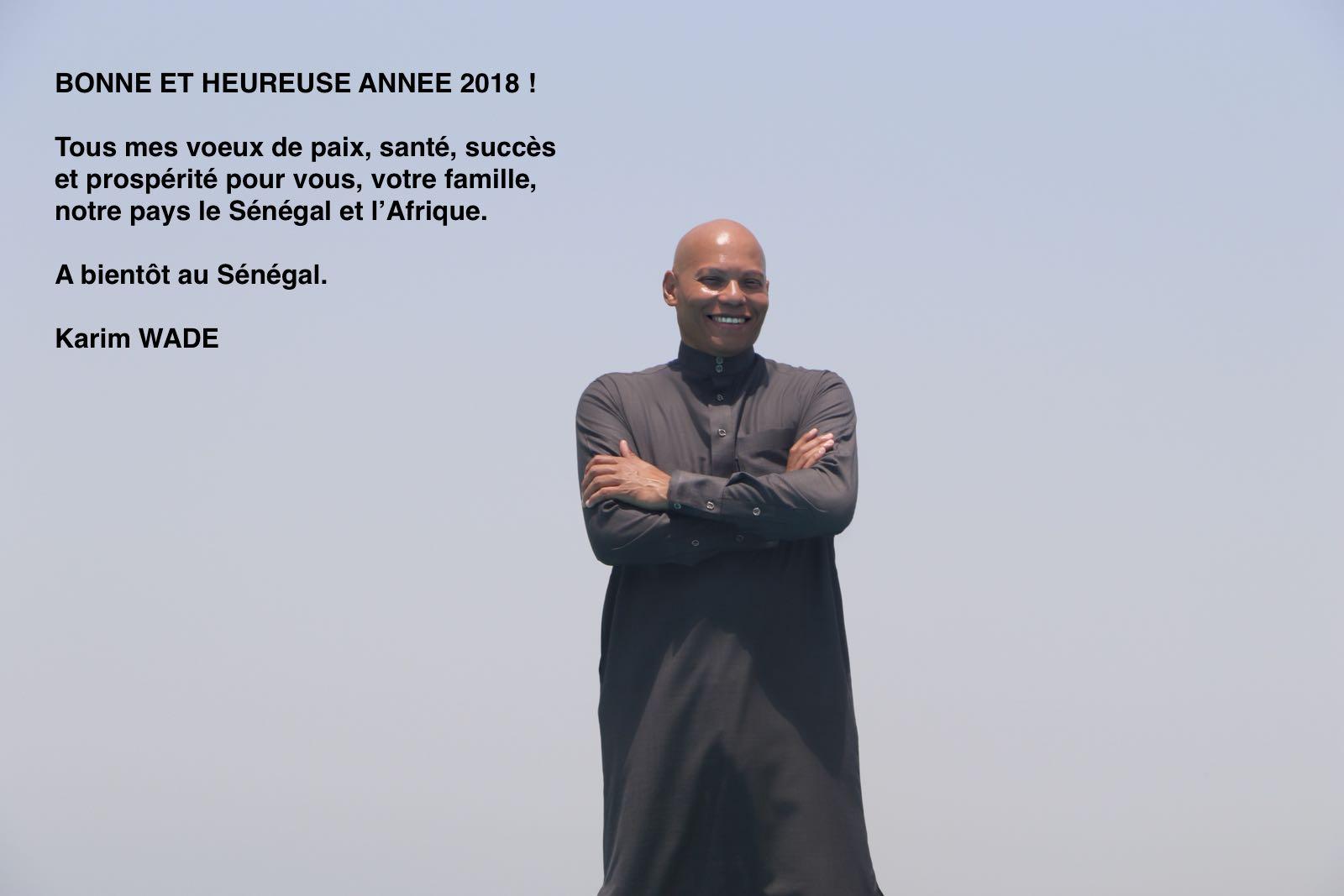 Les voeux du candidat du PDS, Karim Wade, adressés aux sénégalaises et aux sénégalais