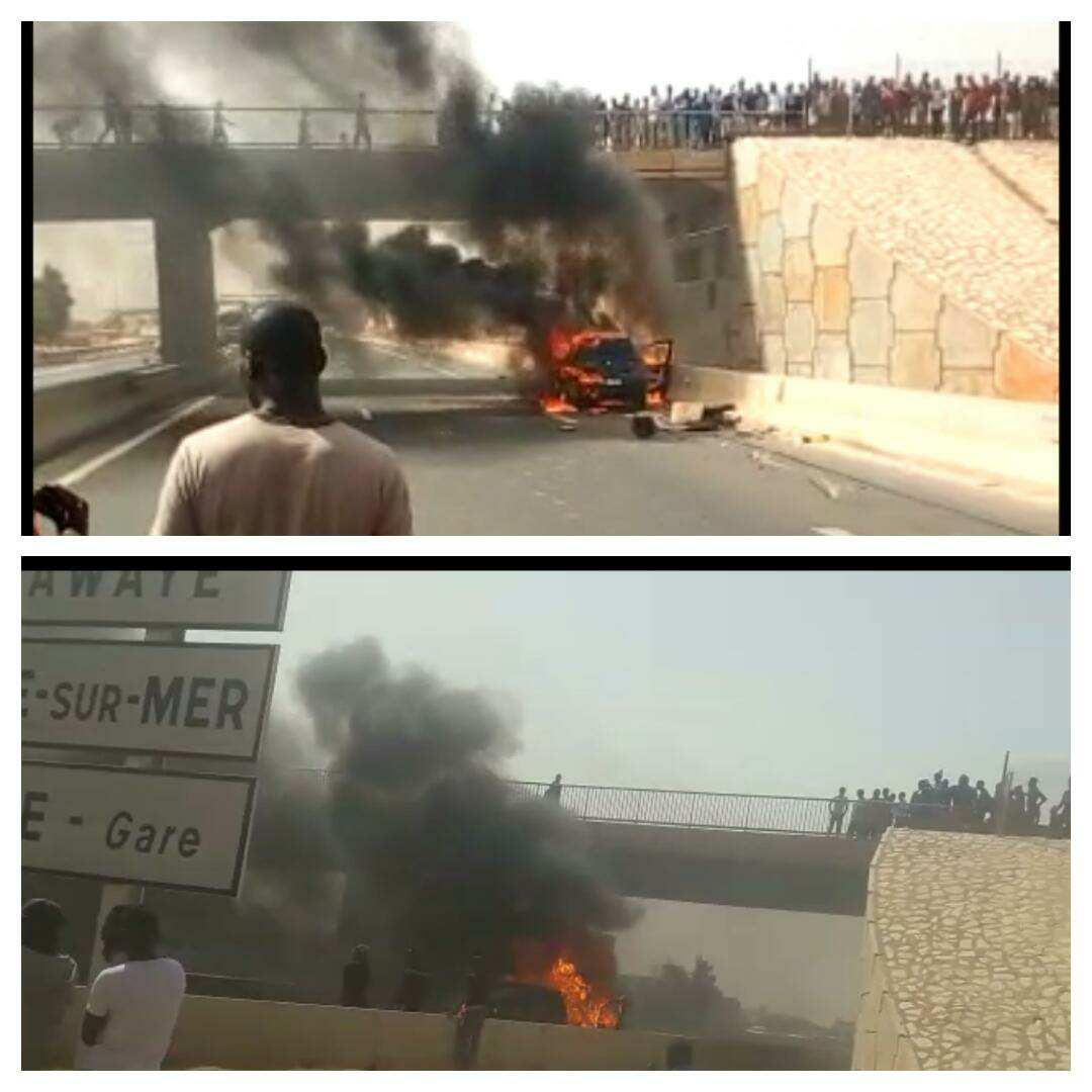 Autoroute : Une voiture en flammes provoque un énorme bouchon