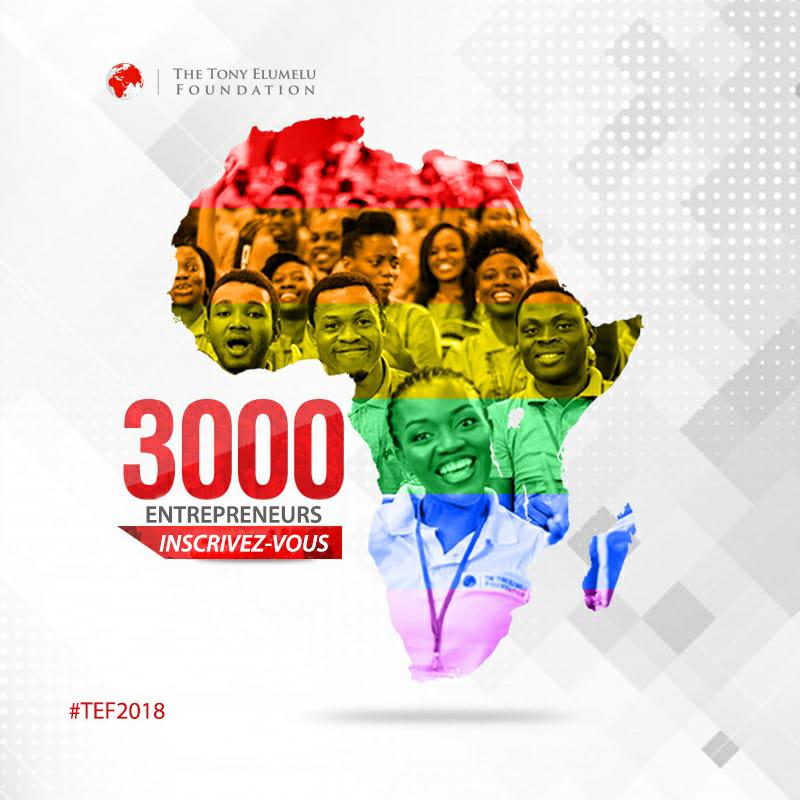 La Tony Elumelu Foundation accepte les candidatures pour le 4e cycle du programme de développement de l'entrepreneuriat qui représente une valeur de 100 millions USD