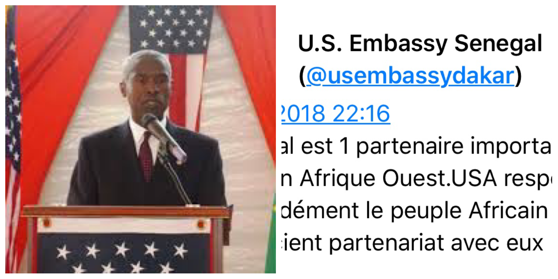 « Pays de merde » : l'ambassade des USA rectifie Trump et déclare respecter le Sénégal et le peuple africain