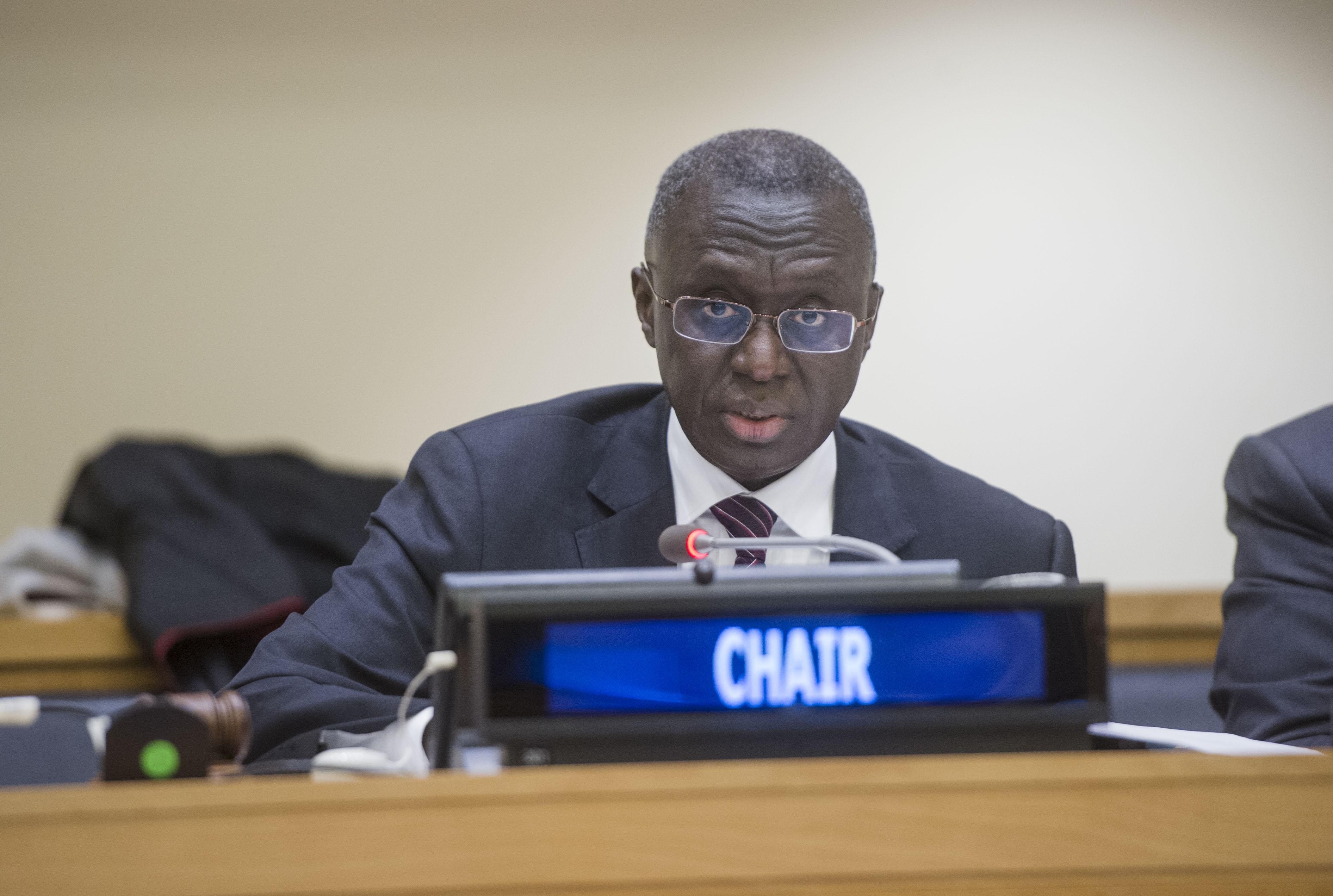 """Fodé Seck, représentant du Sénégal auprès des Nations-Unies : """"Le Sénégal a consulté 2.273 documents au Conseil de sécurité"""""""