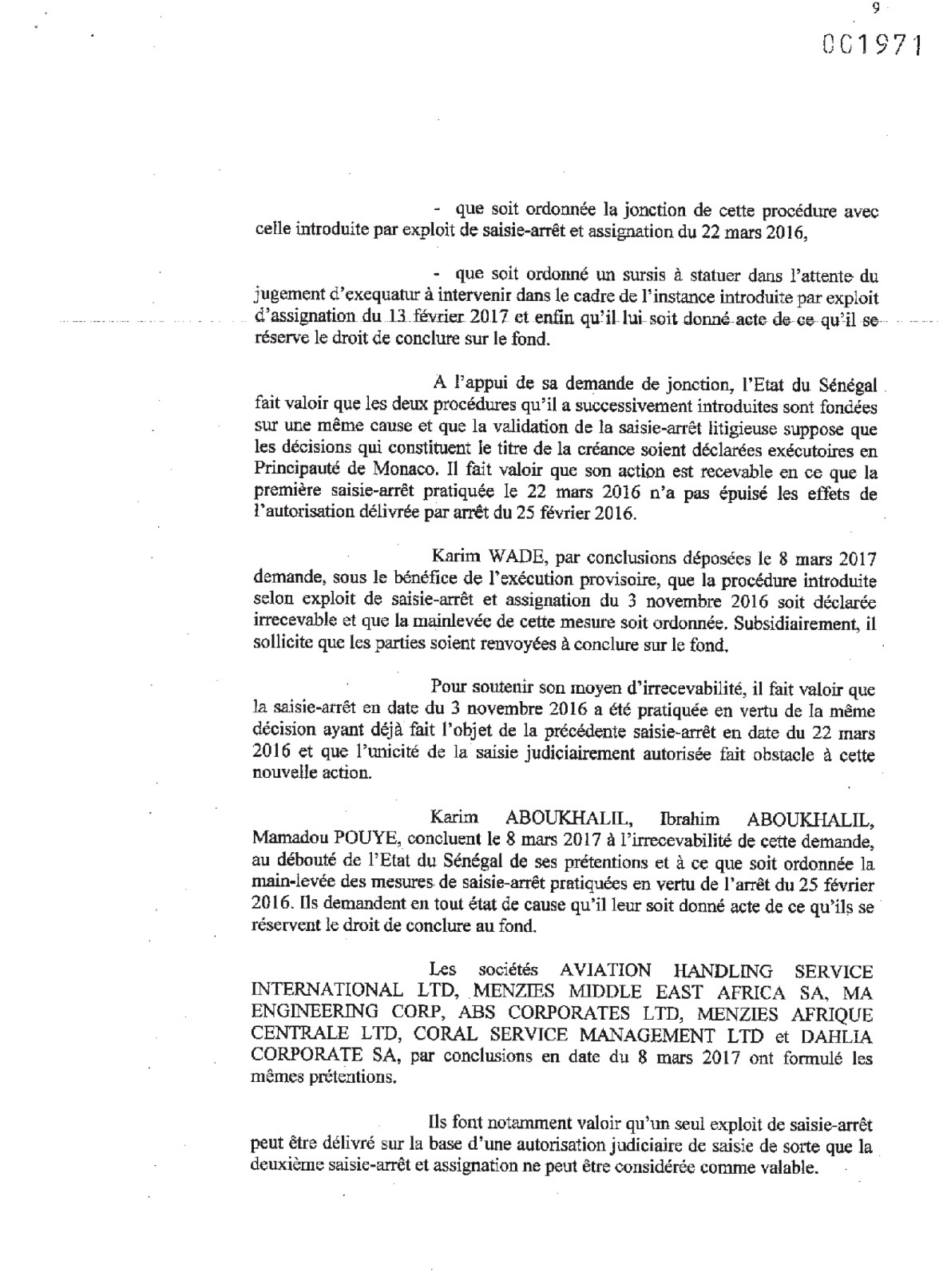 Comptes de Monaco : Karim Wade et Cie déboutés (DOCUMENTS)