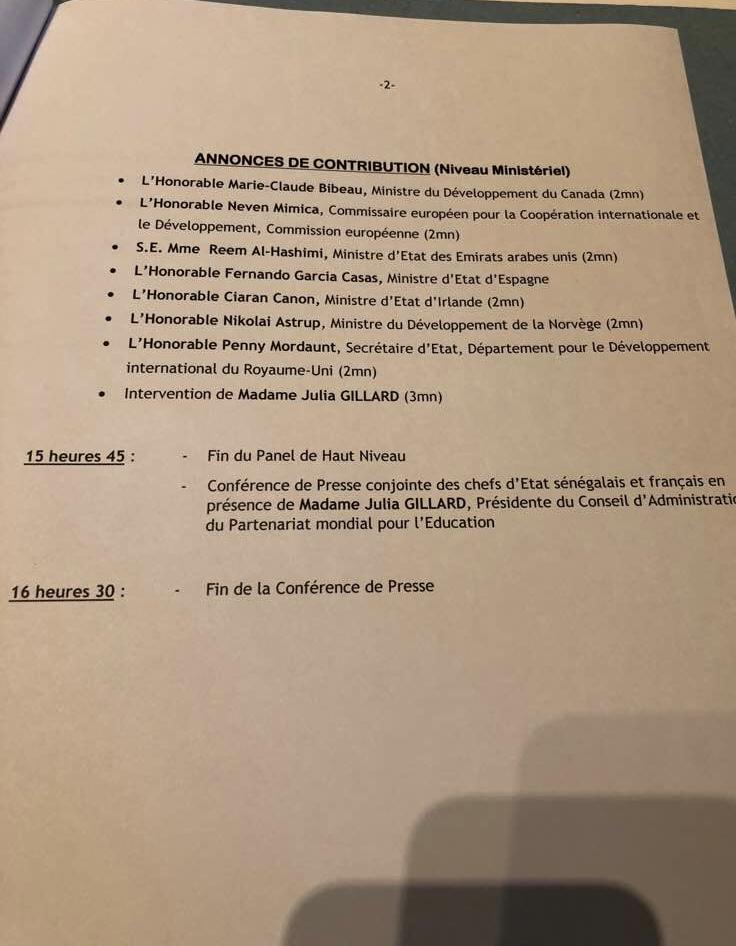 Panel de haut niveau sur l'éducation : la liste des hôtes de marque de Macky Sall (Documents)