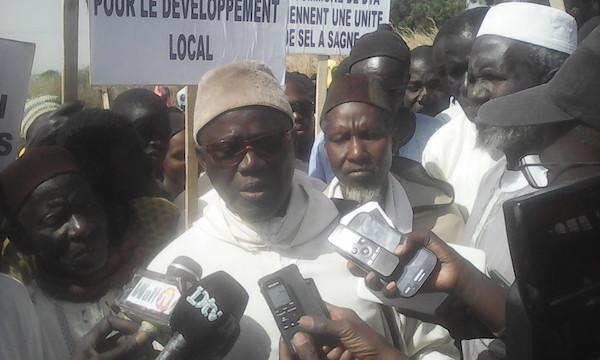 Litige foncier : Contre manifestation du Collectif des chefs de village de la commune de Dya pour l'affectation de 845 ha aux Salins du Saloum