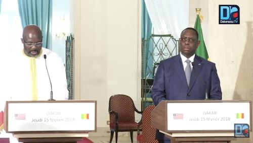 """Macky Sall sur la coopération Sénégalo-libérienne : """"Nous avons vu que le cadre était très faible"""""""