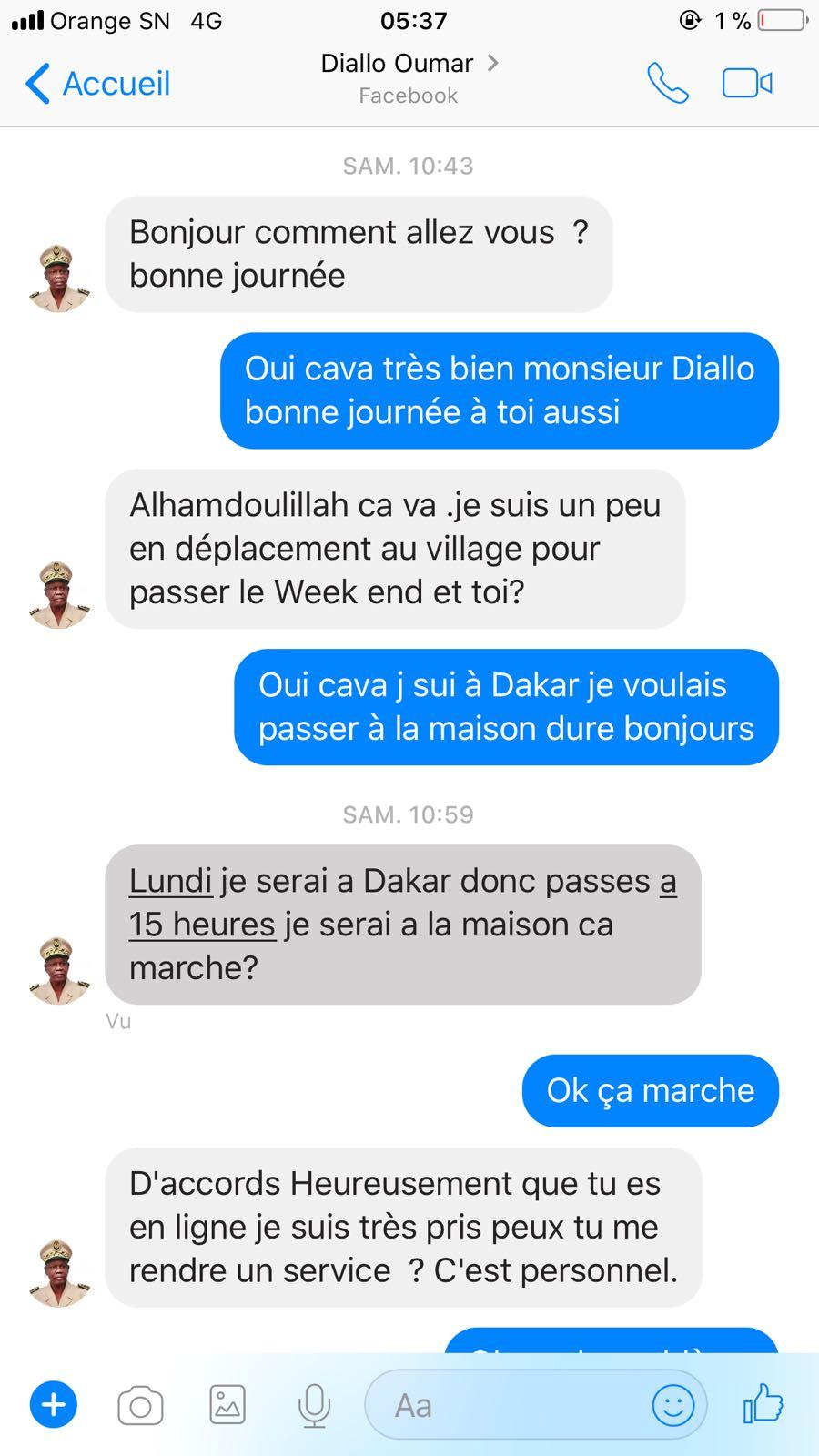 Escroquerie via Facebook : des arnaqueurs se font passer pour le colonel Omar Diallo De la douane
