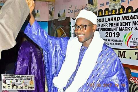 (APR) NOUVELLE DÉFECTION À TOUBA : Serigne Abdou Lahad Mbacké Ndoulo renonce à son ' And Falaat  Macky Sall en 2019