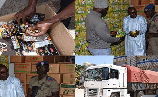 La gendarmerie nationale a saisi 3600 cartons de bonbons contrefaits et 37.021 cartons de produit