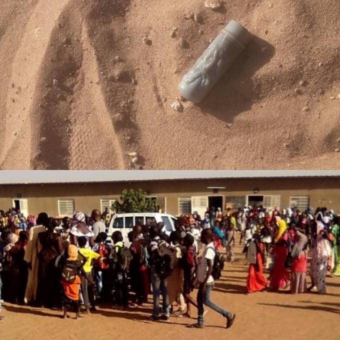 MBACKÉ - La police jette des  grenades lacrymogènes dans une école franco-arabe. Plusieurs élèves ont été évacués