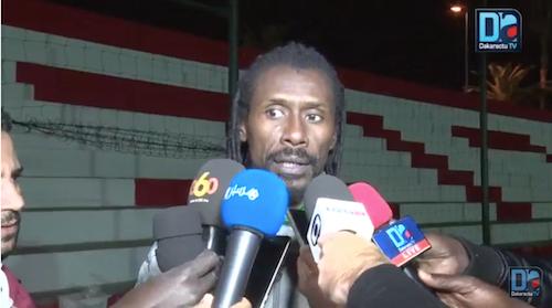 """Aliou Cissé :  """" Ces matches amicaux nous permettront de voir qui sont les joueurs qui sont prêts à aller en Russie """""""