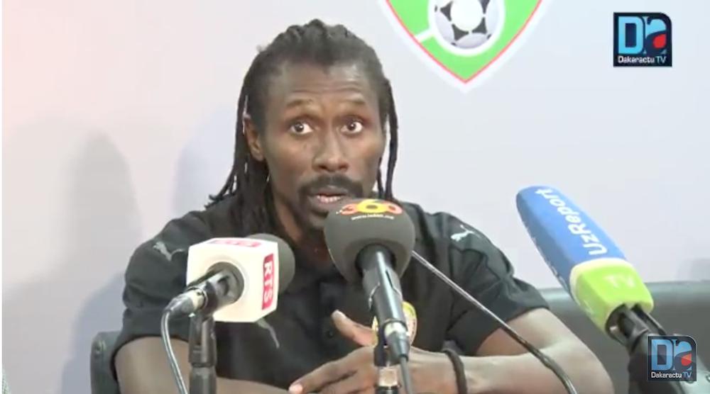 """Aliou Cissé : """"J'ai choisi cette équipe qui a joué aujourd'hui pour donner plus de temps de jeu à certains joueurs"""""""
