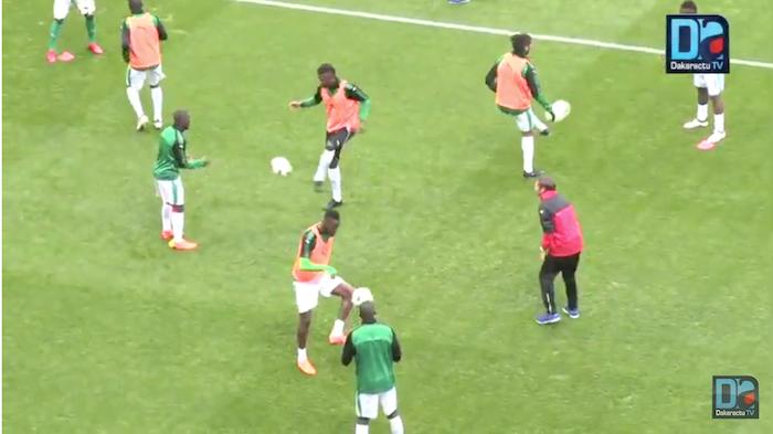 Sénégal/Bosnie-Herzégovine : Les deux équipes à l'échauffement