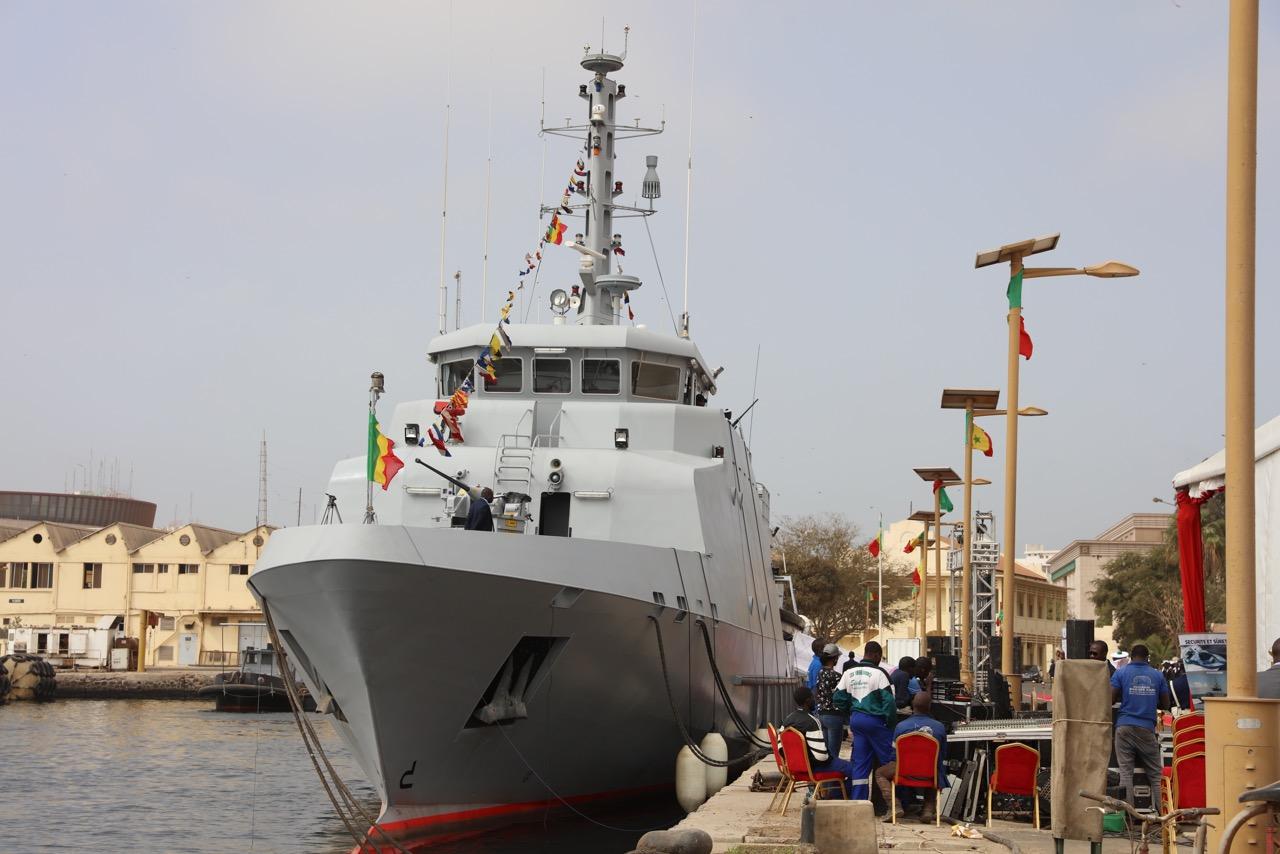 Baptême officiel du navire Fouladou : Patrouilleur en haute mer