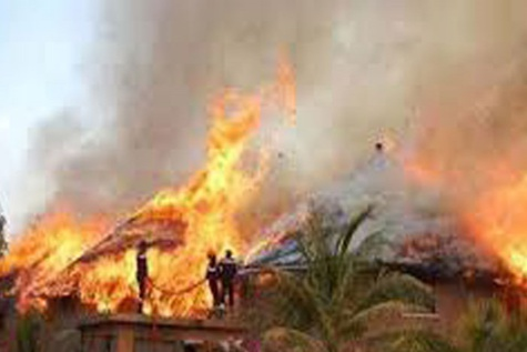Incendie à Sotokoy : 10 cases emportées par les flammes