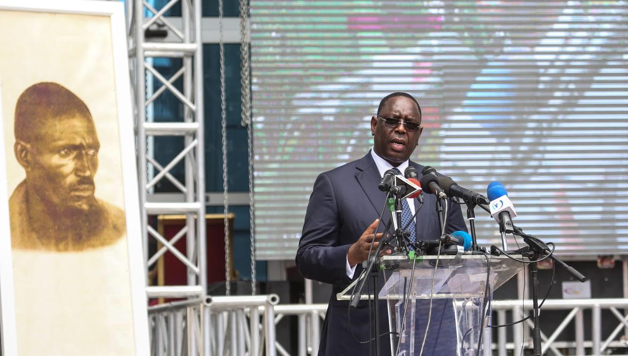 Cérémonie d'hommage au sergent Malamine Kamara à Brazzaville