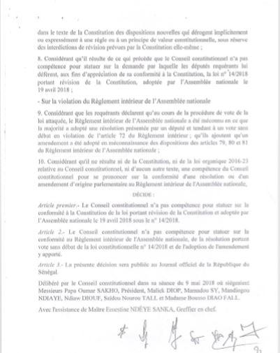 Loi sur le parrainage : le Conseil Constitutionnel se déclare incompétent à statuer sur la « conformité »