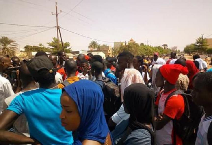Kaolack : Les étudiants de l'UVS s'inclinent devant la mémoire de Fallou Sène et observent 48 heures de grève