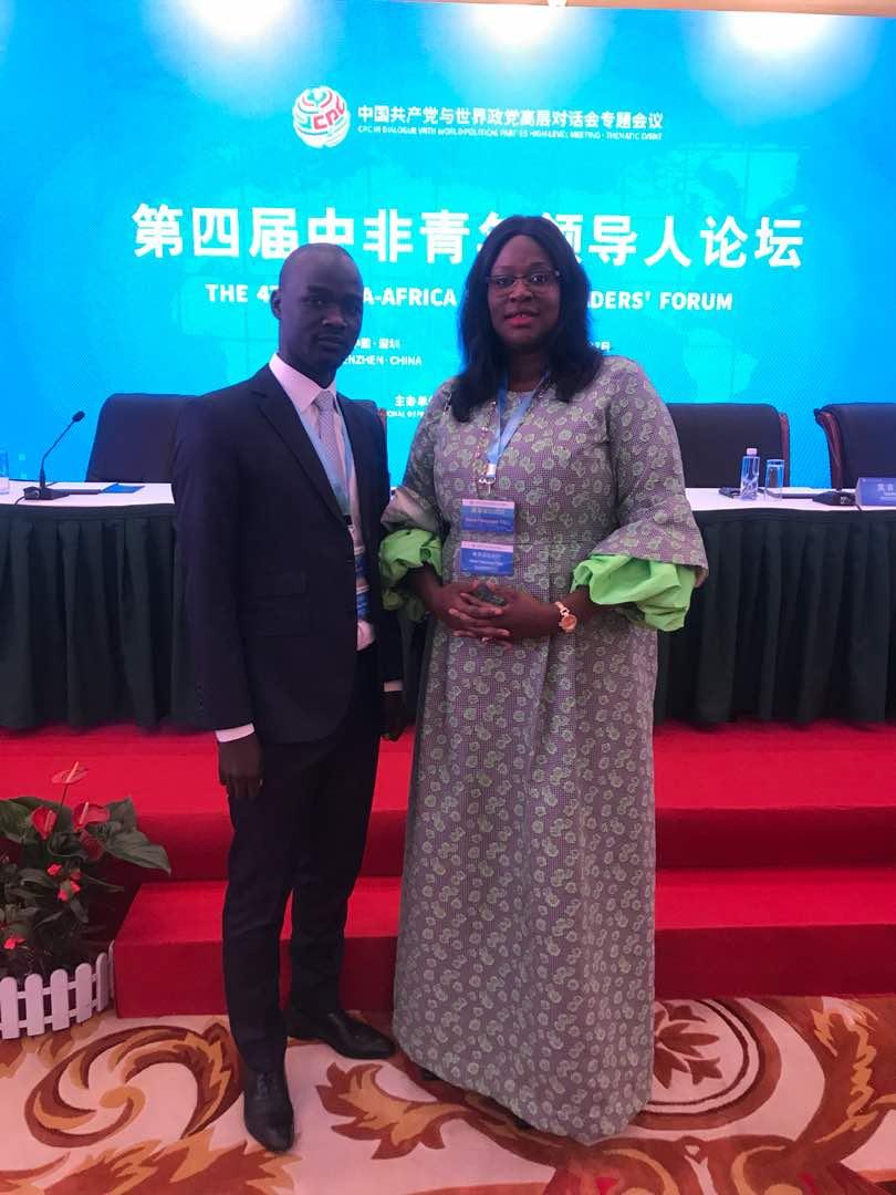 4ème édition du forum des jeunes leaders Sino africains tenu en Chine les 26 et 27 Mai2018 :  L' APR est représentée par Meïssa Mahécor Diouf et Néné Fatoumata Tall