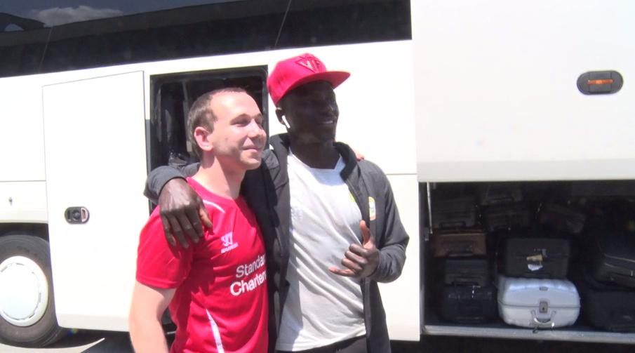 Sadio Mané à la rencontre des supporters de Liverpool en Croatie