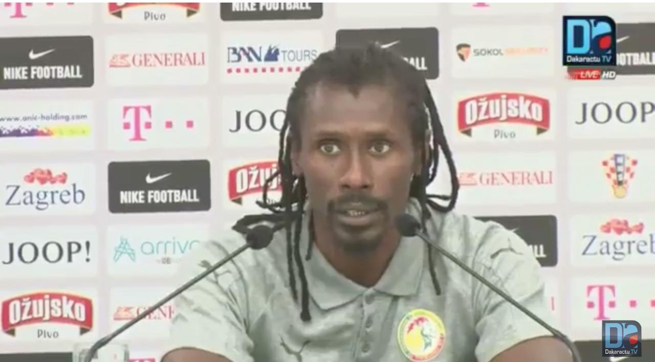 """Aliou Cissé : """"Cheikhou a eu un petit bobo, mais il sera vite rétabli"""""""