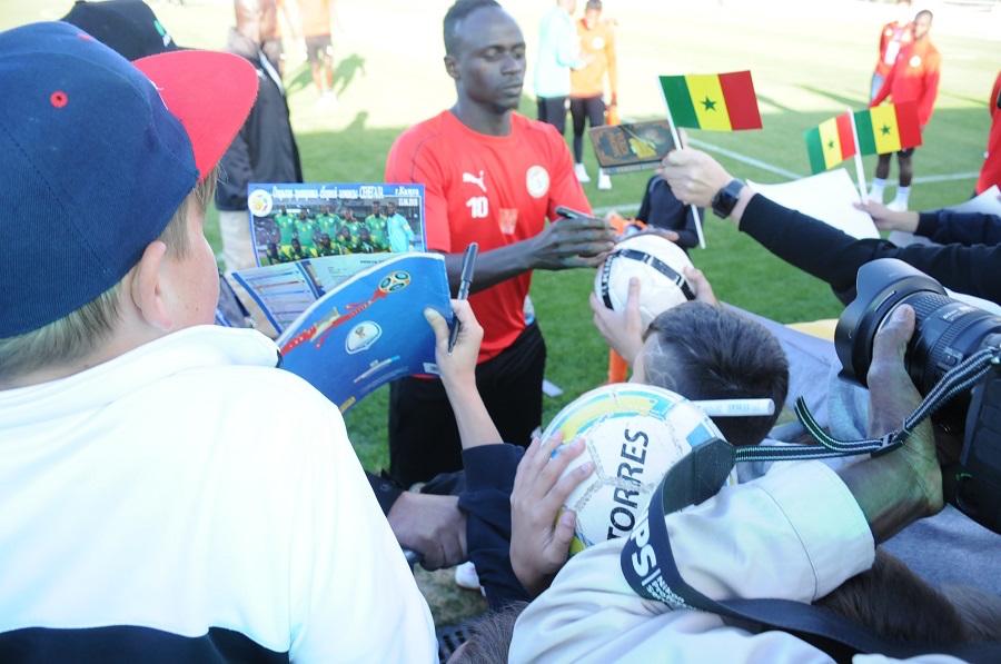 Deuxième  galop : Sadio Mané offre du spectacle aux jeunes de Kaluga