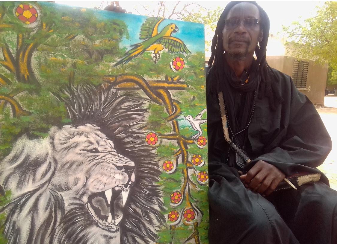 RUSSIE 2018 - ' Il n'y a qu'au Sénégal où les artistes peintres ne sont pas associés à la coupe du monde de leur nation ' ( Matar Khoulé )