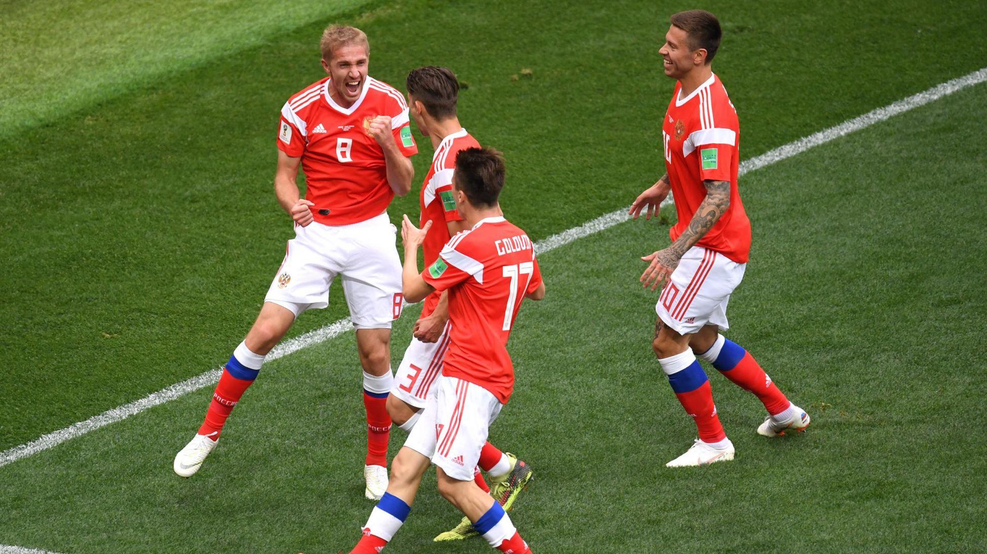 Coupe du monde : Les Russes sont quasiment qualifiés en 8es de finale après une victoire probante face à l'Egypte (3-1)