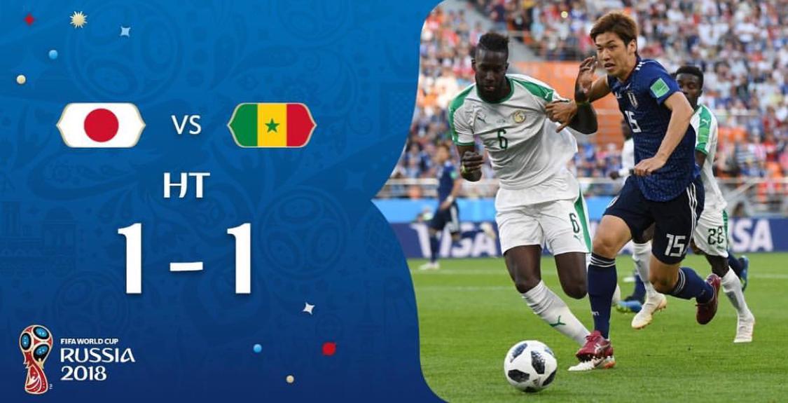 Sénégal/Japon : 1-1 à la pause