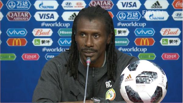 Aliou Cissé : « La Colombie, c'est une équipe que l'on connait… c'est l'engagement, c'est la vitesse »