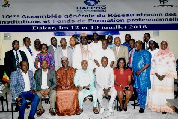 Précision sur la 10éme assemblée générale du réseau africain des institutions et fonds de formation professionnelle (rafpro)
