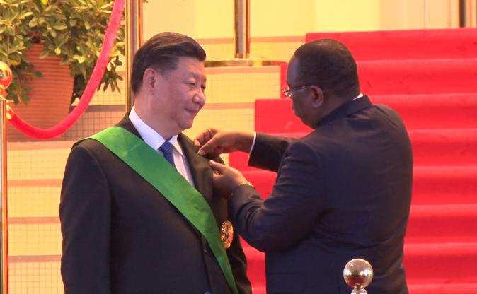 Le président chinois élevé à la dignité de Grand Croix dans l'ordre national du Lion
