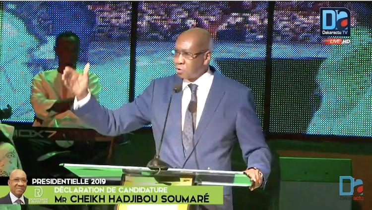 """Hadjibou Soumaré : """"L'élection de 2019 est un rendez-vous avec notre destin commun qu'il ne faudra pas manquer"""""""