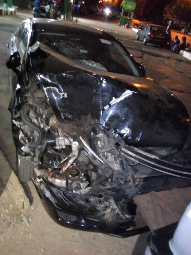 Kaffrine : La voiture du député Abdoulaye Wilane se crashe contre un gros porteur