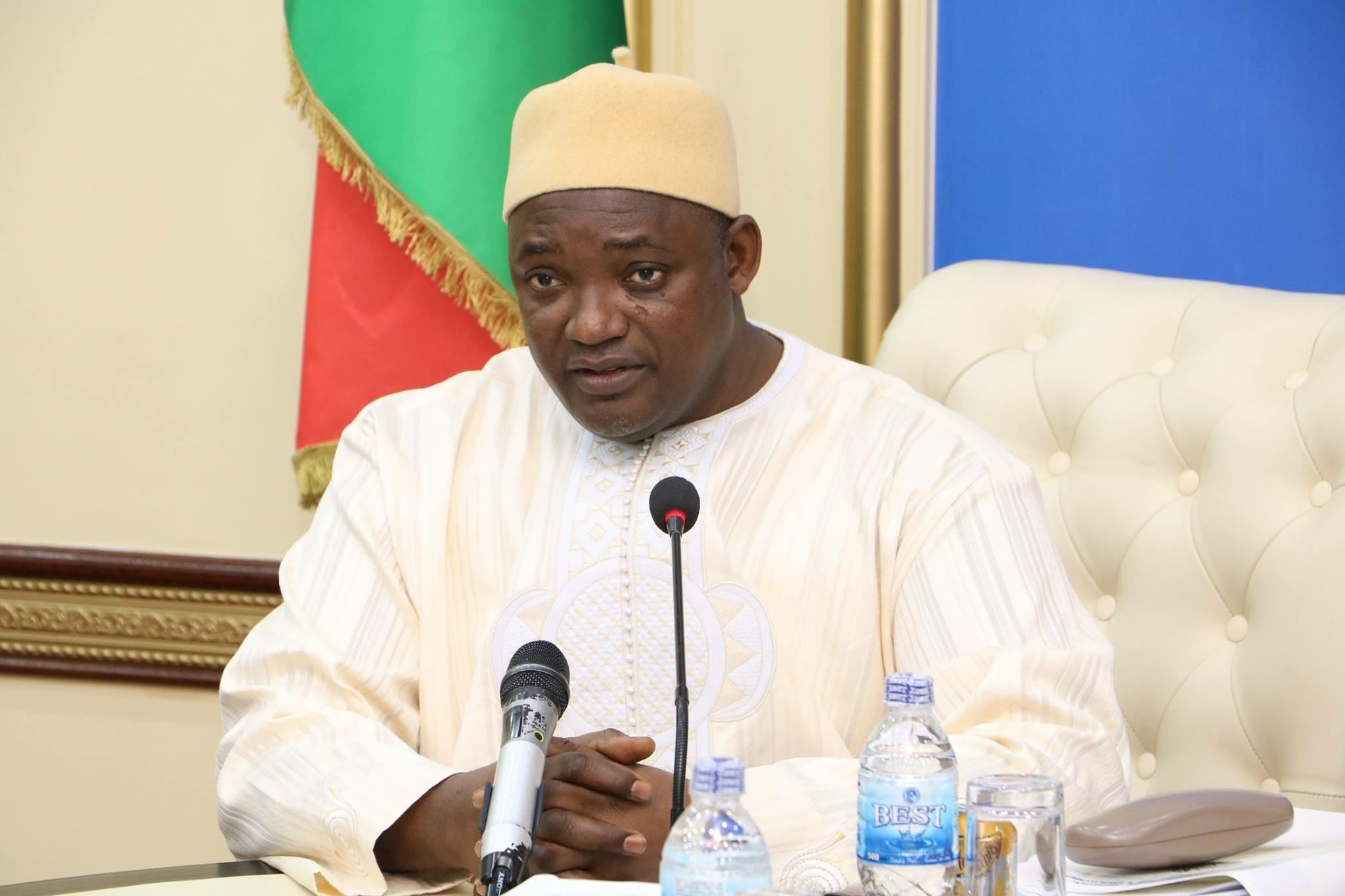 Inauguration du pont Gambie-Sénégal en janvier 2019 : Adama Barrow supervise les travaux