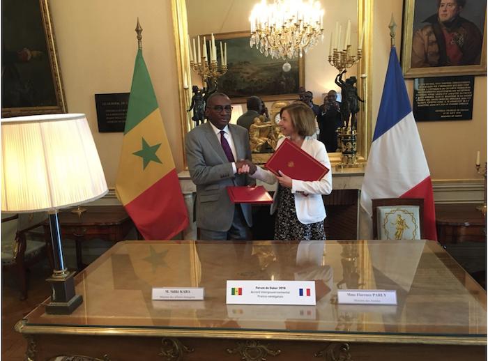 Rencontre entre le Ministre des Affaires Etrangères et des Sénégalais de l'Extérieur et le Ministre français des Armées