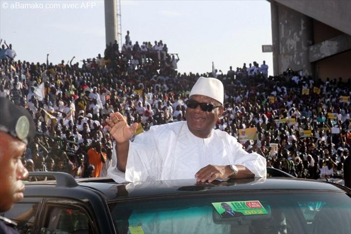 Mali : Ibrahim Boubacar Keita remporte la présidentielle. Il est réélu avec 67,17% des voix.