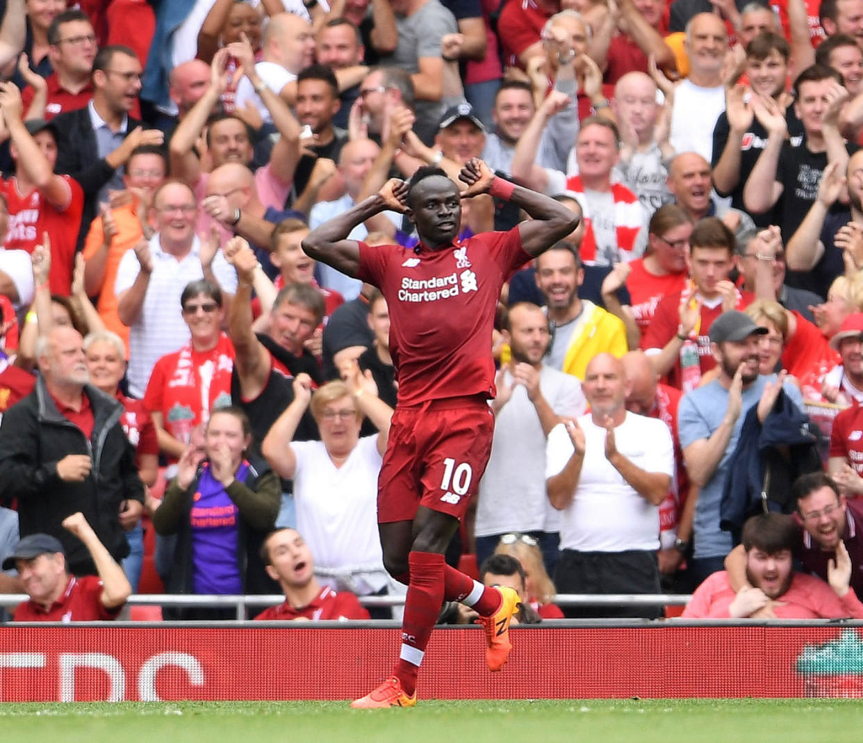 Angleterre : Sadio Mané  élu joueur du mois d'août