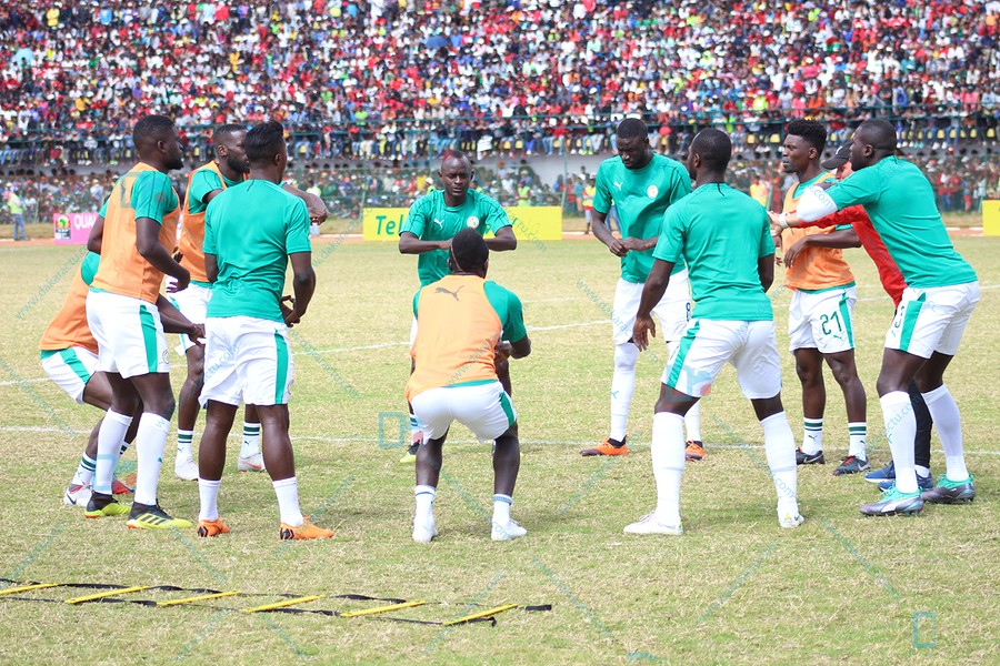 Les Lions en 4-4-2 avec Alfred Gomis dans les buts face au Madagascar